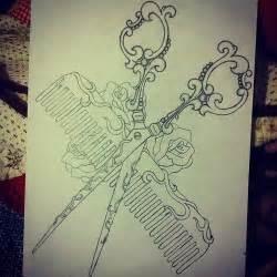 comb amp scissors tattoo design tattoos pinterest