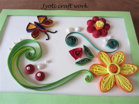 craft work for my craft work quilling birdies