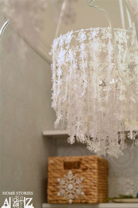 snowflake chandelier how to make a snowflake chandelier home stories a to z