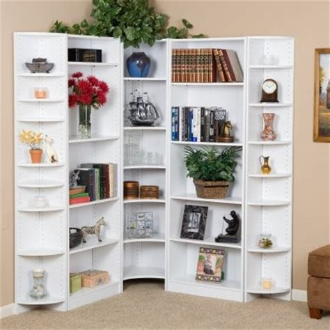 corner white bookcase premier large corner bookcase wall white modern bookcases by hayneedle
