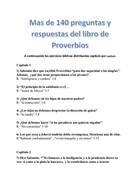 preguntas biblicas con respuestas pdf mas de 140 preguntas y respuestas del libro de proverbios