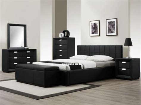 leather bedroom furniture best 25 black leather bed ideas on black