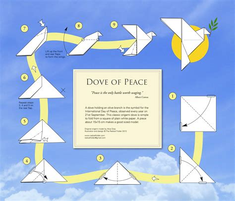 dove origami the radical folder paper folding with an edge
