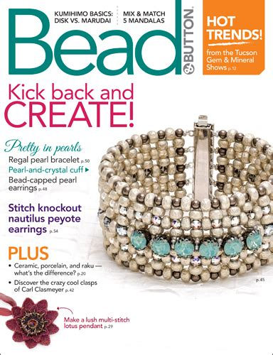 bead magazine free about bead button magazine facet jewelry