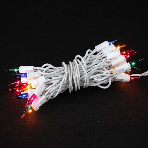 white wire lights 20 light multi led light set non connectable