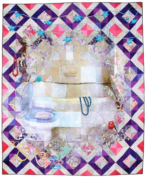 acrylic paint quilt past mixed media quilts lunch ticket