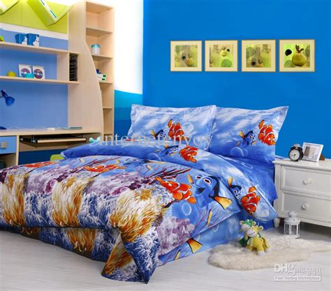 finding nemo comforter set blue finding nemo cotton home textile bed in a bag king