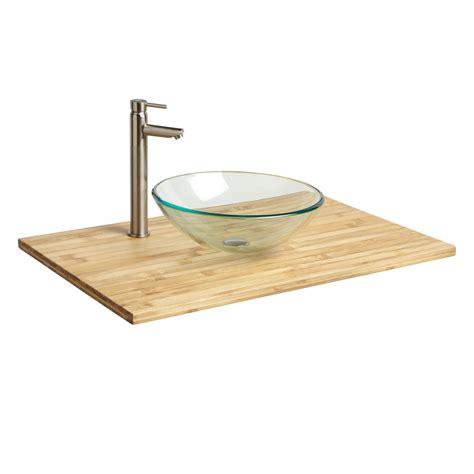bathroom sink vanity top 37 quot x 22 quot bamboo vessel sink vanity top bathroom