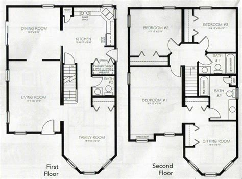 2 story house floor plans beautiful 4 bedroom 2 storey house plans new home plans design