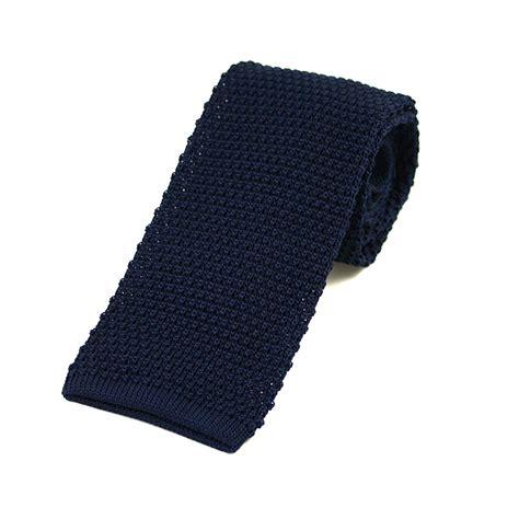 navy blue knit tie navy knitted silk tie extras