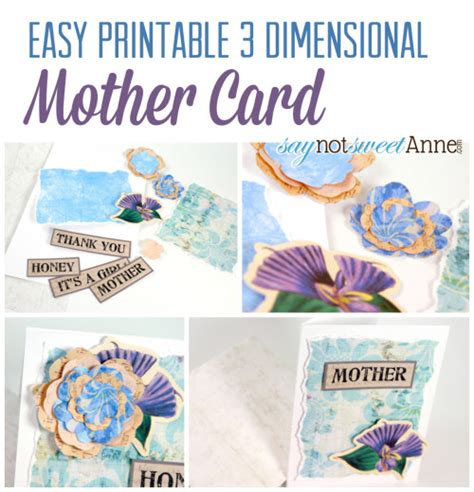 how to make 3d mothers day cards printable s day card in 3d sweet designs