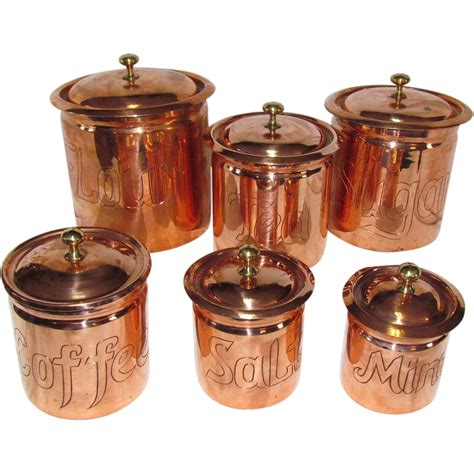 Kitchen Canisters Blue the best set of copper kitchen canisters i ve seen from