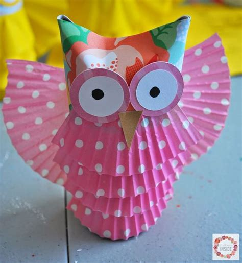 toilet paper owl craft a glimpse inside toilet paper owls animal crafts