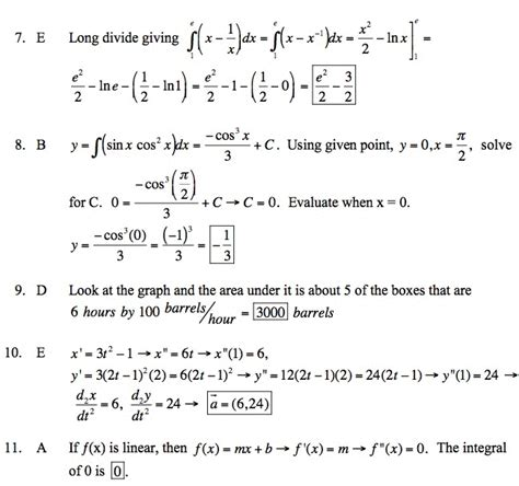 to calculus ap 1998 bc choice no calculator