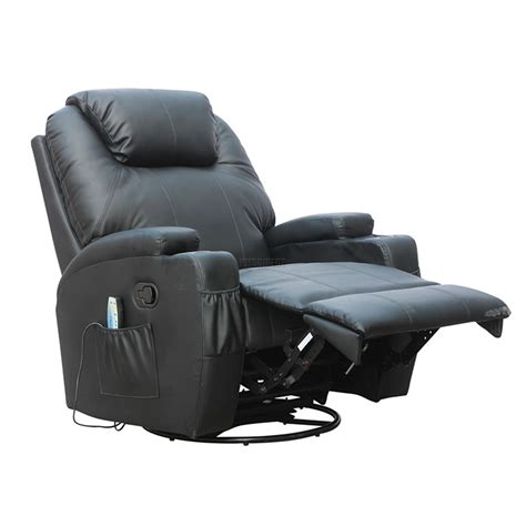 Heat Chair foxhunter bonded leather recliner chair cinema