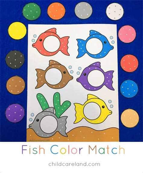 color crafts for fish color match