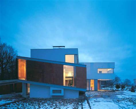 house poland house modern architecture poland broken house