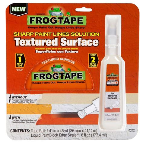 home depot paint kit frogtape textured surface paint block painting kit