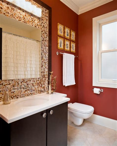 orange bathroom ideas bold bathroom colors that make a statement hgtv s