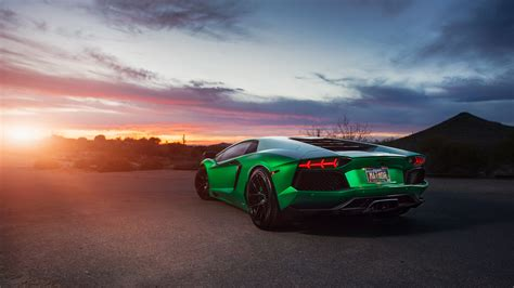 Car Wallpapers Hd Lamborghini Desktop by Lamborghini Aventador Green 4k Wallpaper Hd Car