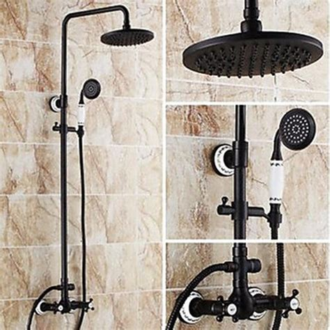 8 Inch Antique Oil Rubbed Bronze Finish Two Handles Shower