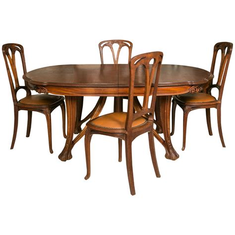 nouveau dining table nouveau mahogany table and 12 chairs decorated with