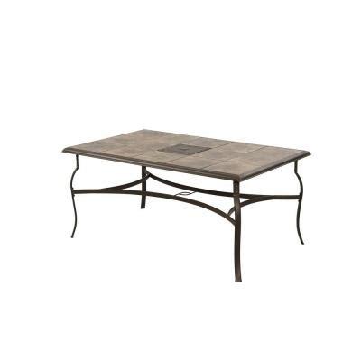 home depot patio table hton bay belleville rectangular patio dining table