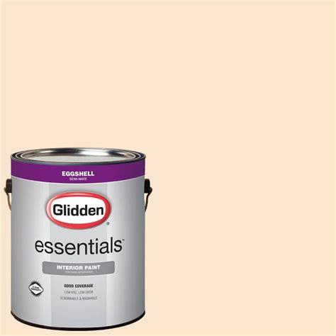 home depot paint eggshell finish glidden essentials 1 gal hdgo30u satin eggshell