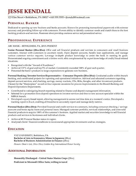latest resume format banking resume template