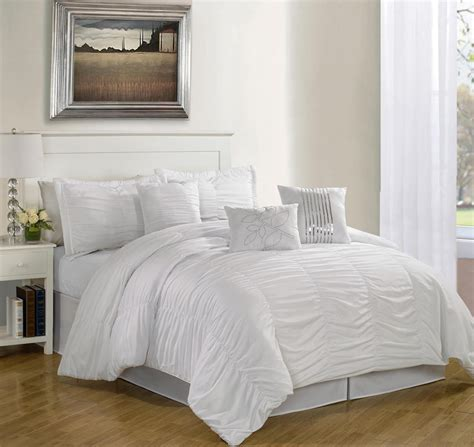 white bedding get alluring visage by displaying a white comforter sets