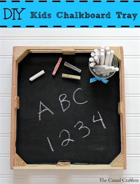 Easy Diy Chalkboard Tray