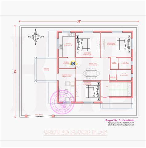 ground floor plan 3d view and floor plan kerala home design and floor plans