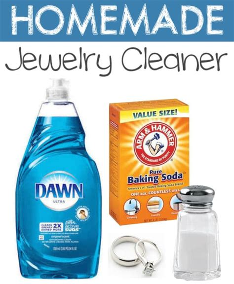 how to make jewelry cleaner household product hacks you can make at home