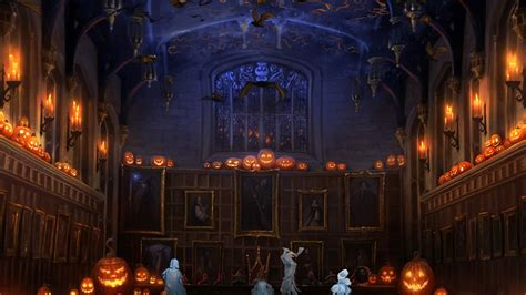 Enchanted Forest Wall Stickers pottermore background halloween in the great hall by