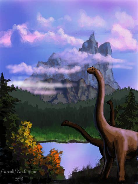 bob ross paintings of animals brachosaurs in a bob ross by netraptor on deviantart