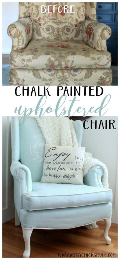 diy chalk paint on upholstery painted upholstered chair makeover chalk paint artsy