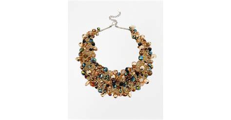 bead cluster necklace aldo harmonie bead cluster collar necklace lyst