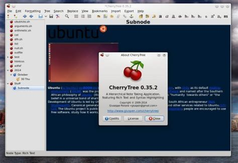 cherry tree notes cherrytree review the rich tree notes application tux machines