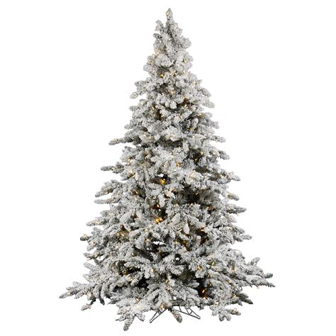snow flocked tree vickerman 7 5 flocked utica tree with 700 led italian lights