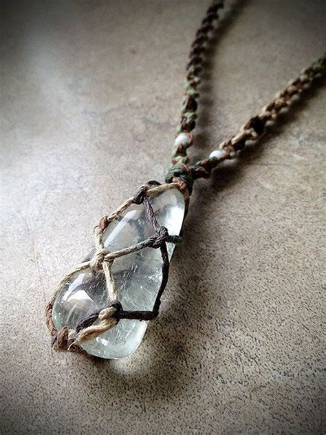crystals to make jewelry prasiolite hemp necklace