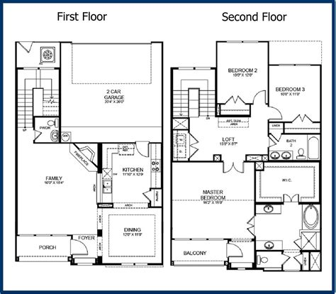 2 story house floor plans 2 storey house floor plans with diions home deco plans