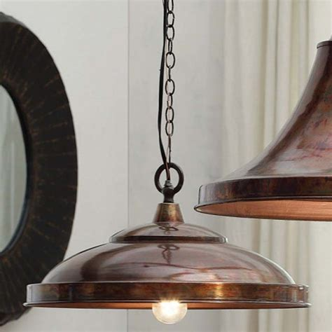 copper pendant lights kitchen copper finish domed pendant l eclectic pendant