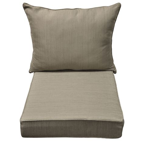 patio chair seat pads shop allen roth brown dining patio chair cushion at lowes