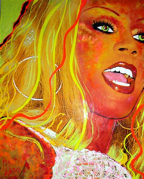 rupaul painting show quot metamorphosis quot by artist olan exclusively at ward nasse