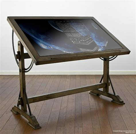 drafting table with computer drafting table computer