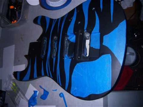 spray painting your guitar teddy zane shows you an easy way how to paint a guitar