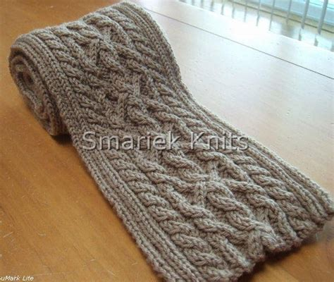 how to knit a cable scarf triumph cable scarf pattern smariek knits