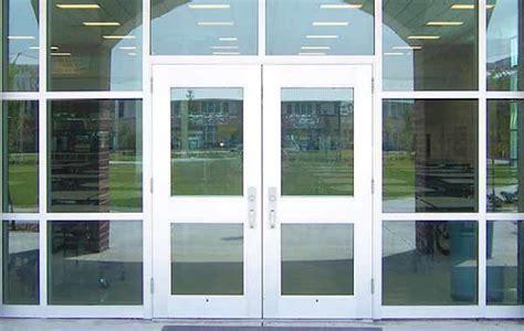 commercial glass front doors store front doors swinging rocky mountain garage