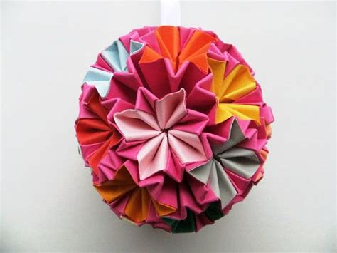 origami bauble paper origami bauble hanging ornament by