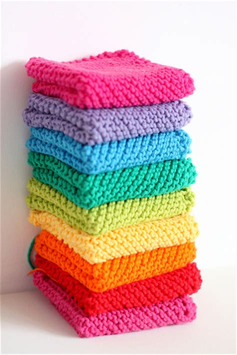 knitted gifts knitted rainbow dishcloths for gifts flickr
